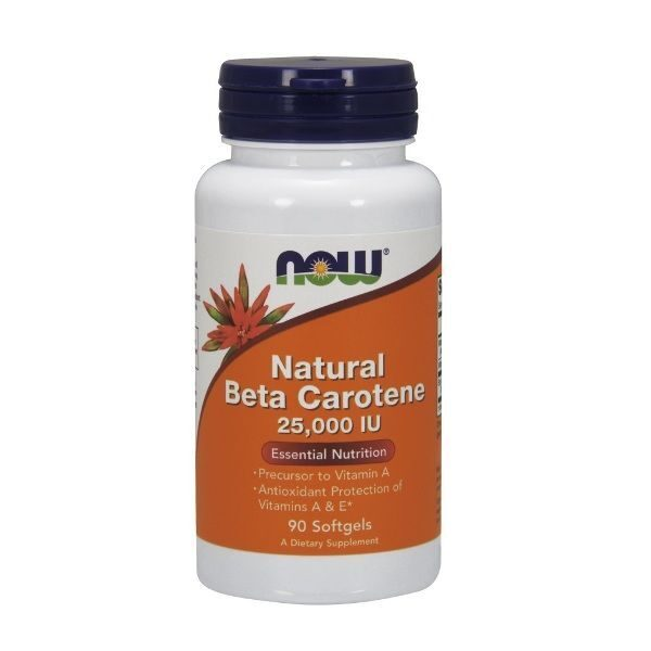 Now Natural Beta Carotene 25000 IU (90капс)