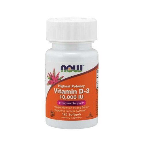 Now Vitamin D-3 10000 IU (120капс)
