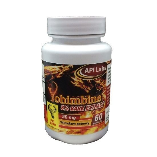 API Yohimbine 50mg 8% Bark Extract (60капс)