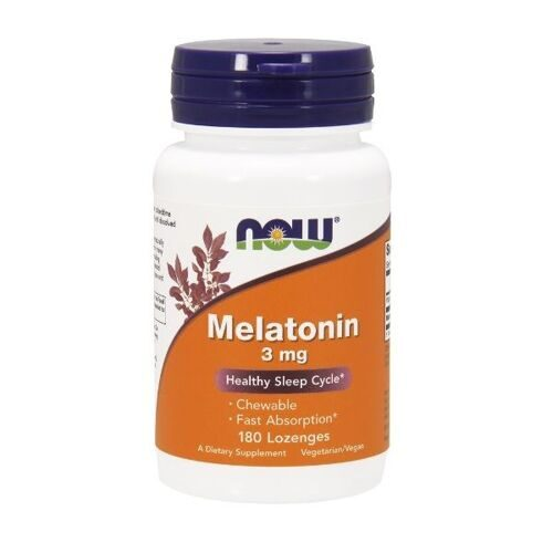 Now Melatonin 3mg (180пастилок)