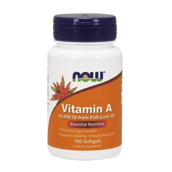 Now Vitamin A 10000 IU (100капс)
