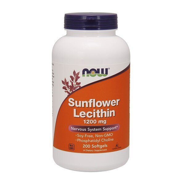 Now Sunflower Lecithin 1200mg (200капс)
