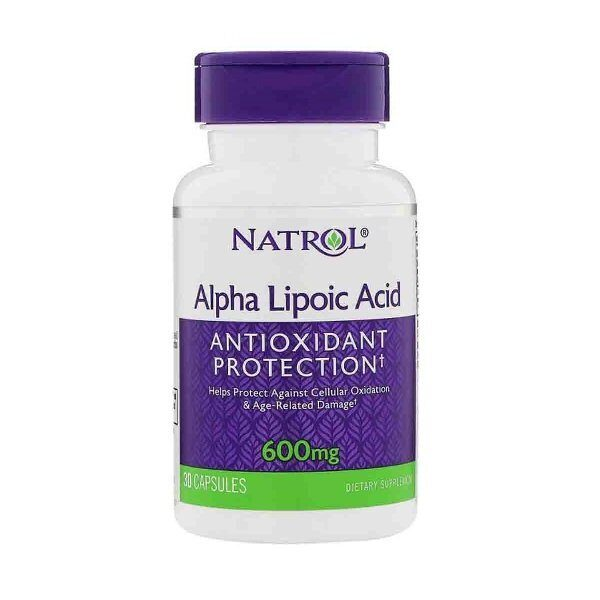 Natrol Alpha Lipoic Acid 600mg (30капс)