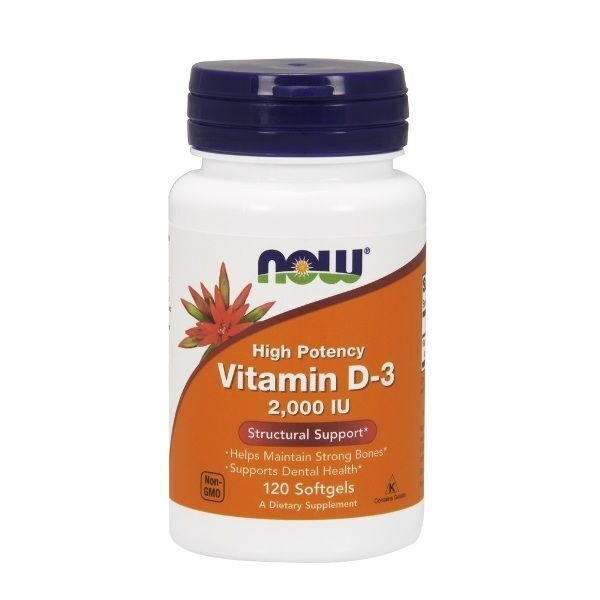 Now Vitamin D-3 2000 IU (120капс)