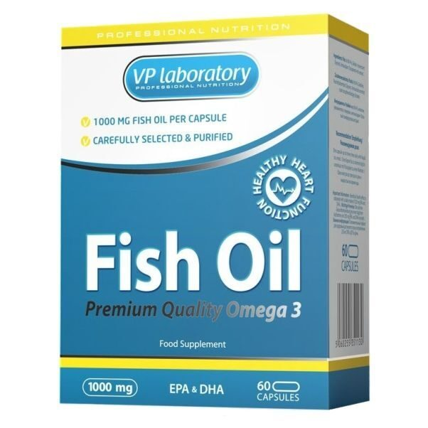 VP Lab Fish Oil Omega 3 (60капс)