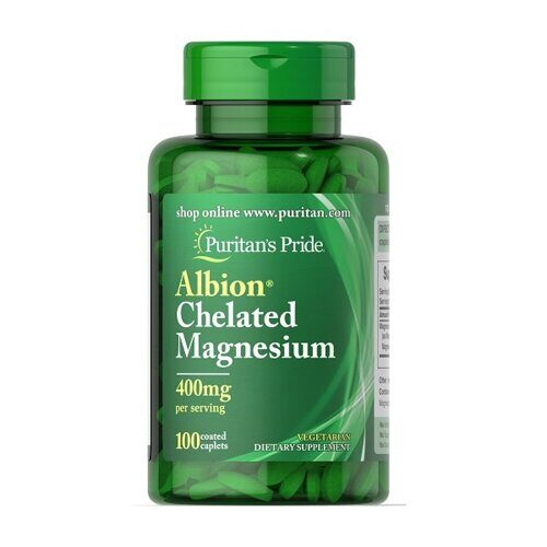 Puritans Pride Albion Chelated Magnesium 400mg (100капс)