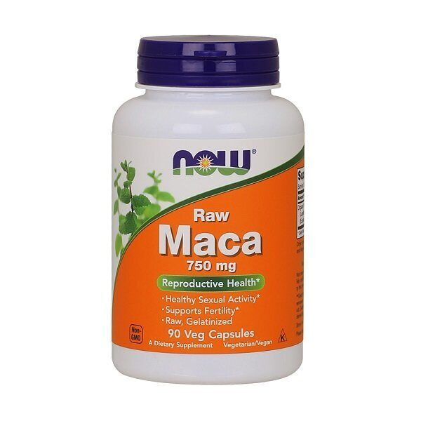 Now Raw Maca 750mg (90капс)