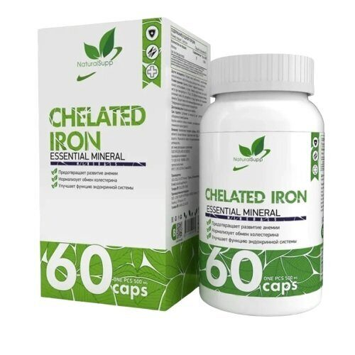 NaturalSupp Chelated Iron (60капс)