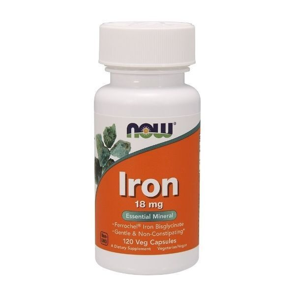 Now Iron 18mg (120капс)