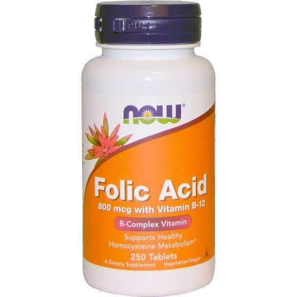 Now Folic Acid 800 mcg (250таб)