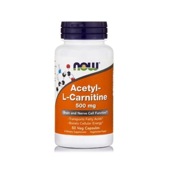 Now Acetyl L-Carnitine 500 mg (50капс)