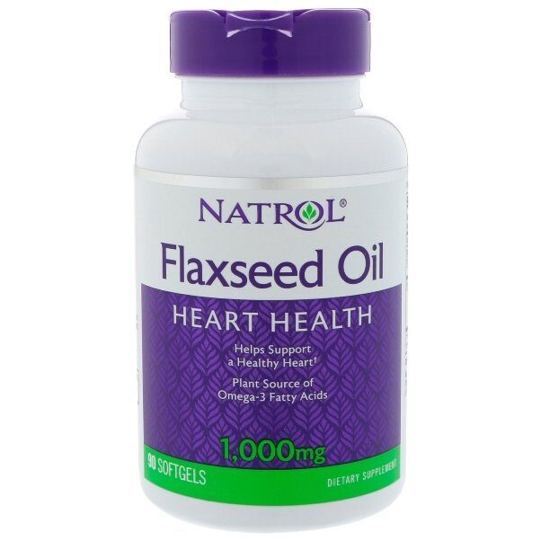 Natrol Flax Seed Oil 1000mg (90капс)
