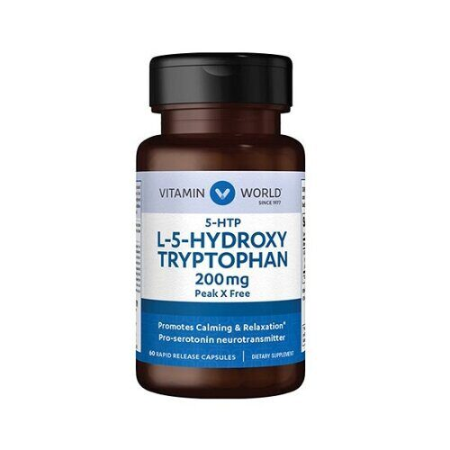 Vitamin World L-5-HydroxyTryptophan 200mg (60капс)