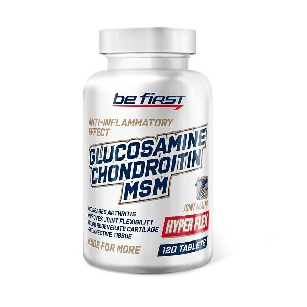 Be First Glucosamin Chondroitin MSM Hyper Flex (120таб)